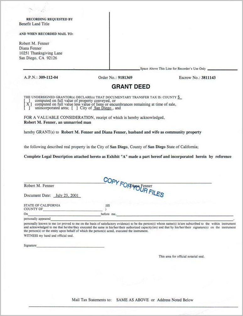 Grant Deed Form For San Bernardino County Templates-1  Resume Examples