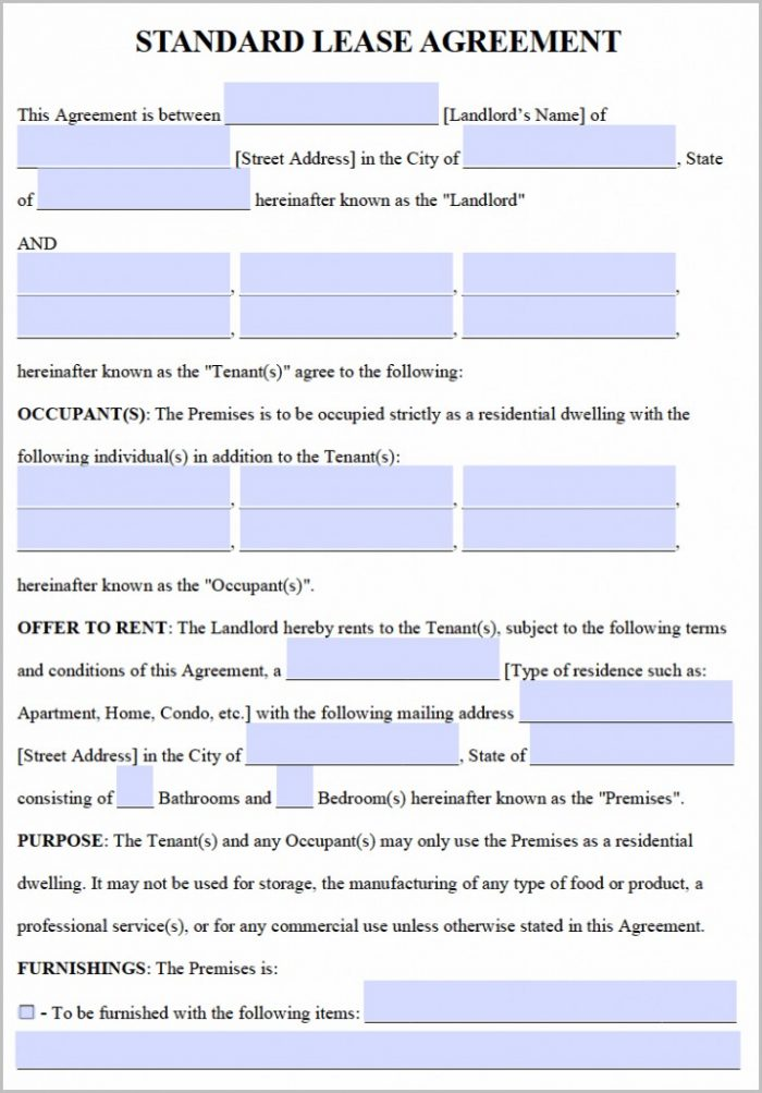 Residential Lease Agreement Template Word Templates-1  Resume Examples