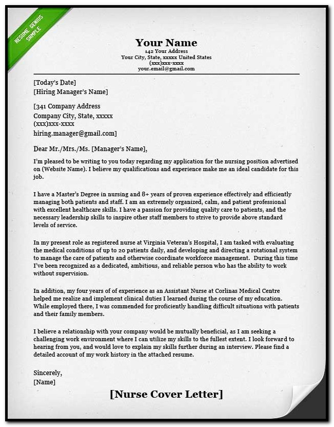 Free Nurse Practitioner Cover Letter Samples Cover-letter  Resume
