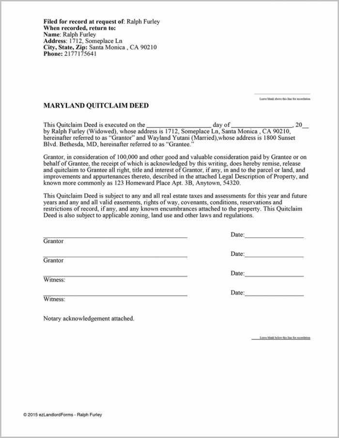 Quit Claim Deed Form Clark County Nevada Form  Resume Examples