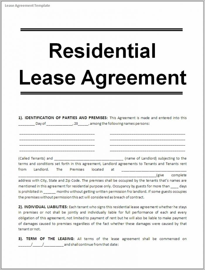 Free Rental Lease Agreement Template Word Templates-1  Resume Examples