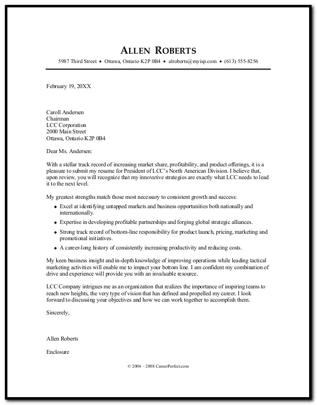 Resume Cover Letter Career Builder Cover-letter  Resume Examples