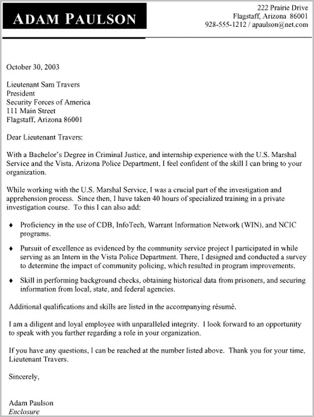 Sample Cover Letter For Criminal Justice Resume Cover-letter