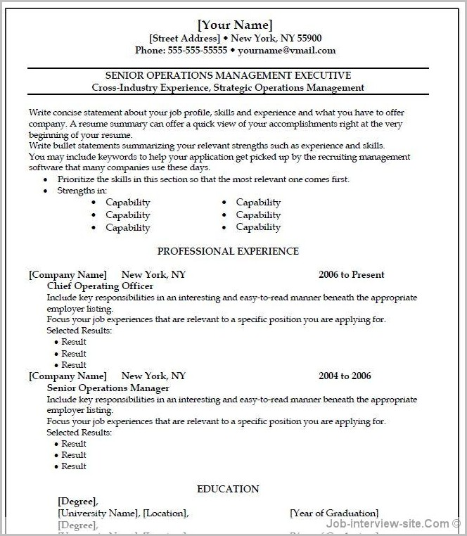 Free Resume Templates Wordpad Templates-1  Resume Examples