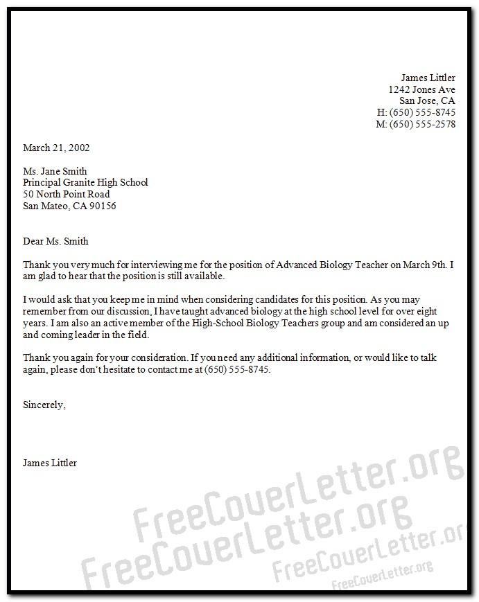 Sample Cover Letter For Biology Teacher Cover-letter  Resume Examples