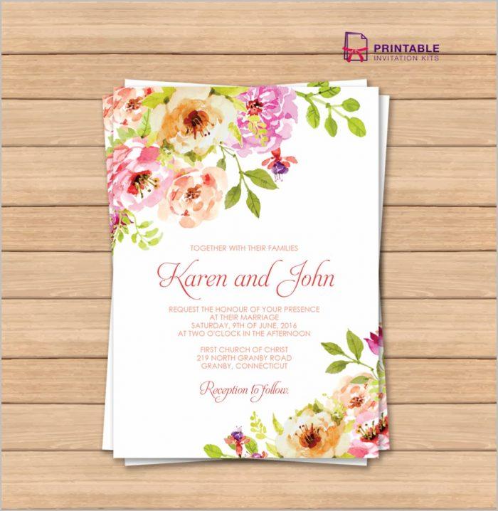 Free Online Wedding Invitation Templates Printable Templates-1