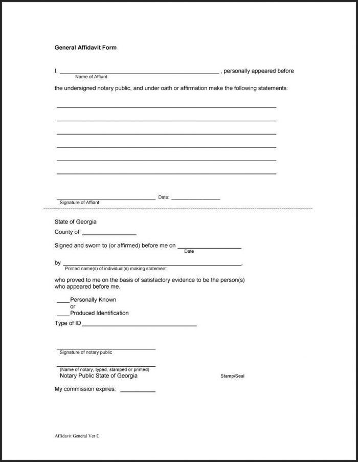 Affidavit Template Word Zimbabwe Templates-1  Resume Examples