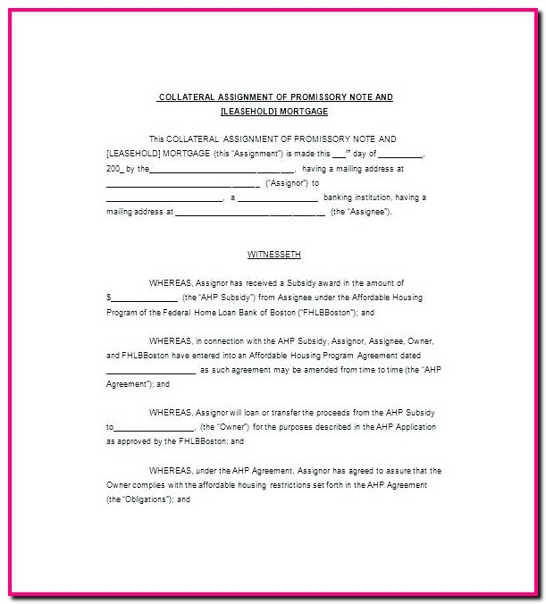 Promissory Note Template Canada Uncategorized  Resume Examples