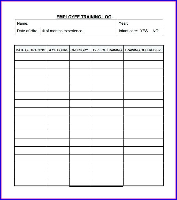Employee Training Schedule Template Excel Templates-1  Resume Examples