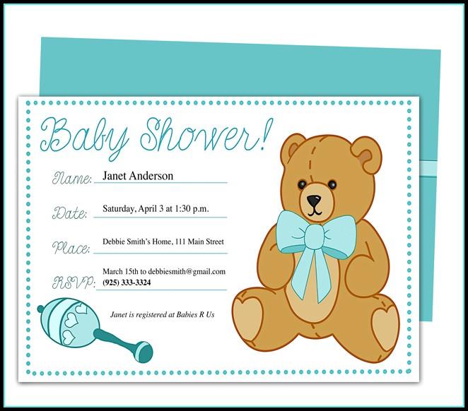 Free Editable Baby Shower Invitation Templates Microsoft Word