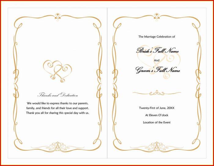 Free Wedding Program Fan Templates Word Templates-1  Resume Examples