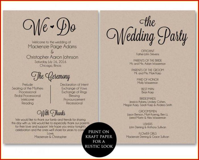 Free Diy Wedding Program Templates Templates-1  Resume Examples