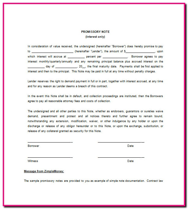 Indian Promissory Note Format Download Uncategorized  Resume Examples
