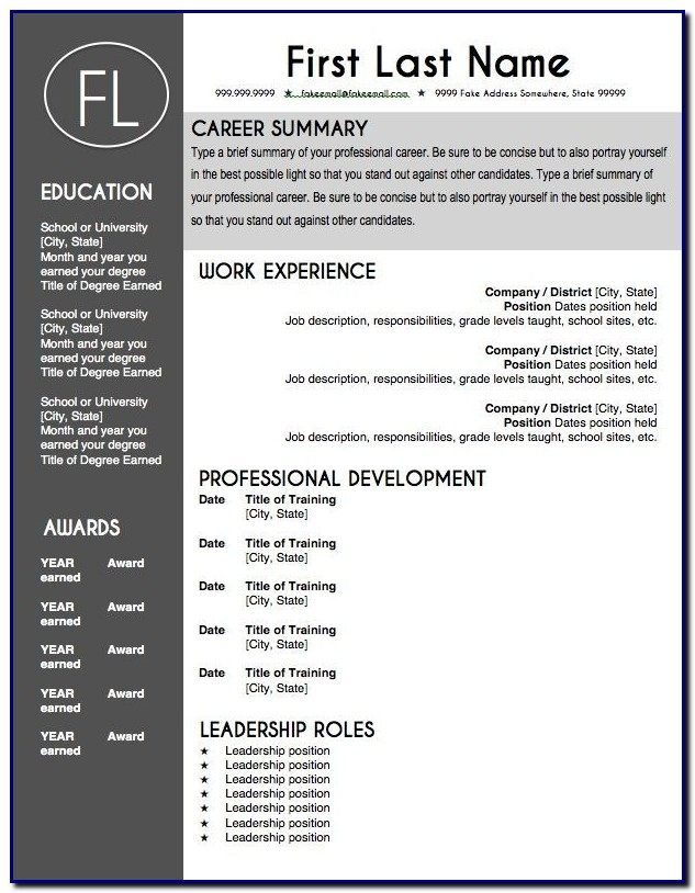 Professional Cv Template Editable Templates-1  Resume Examples