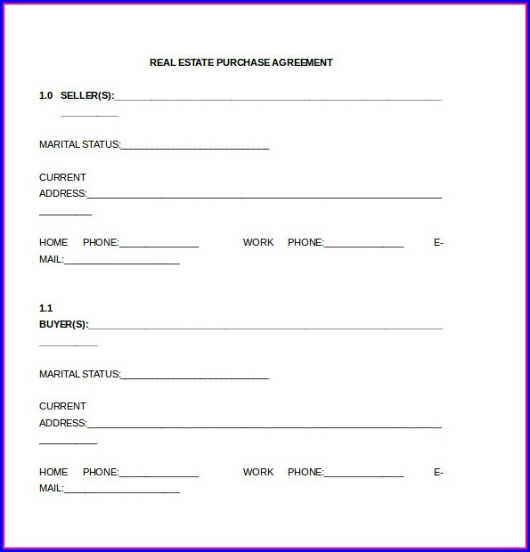 Real Estate Purchase Agreement Template Word Templates-1  Resume