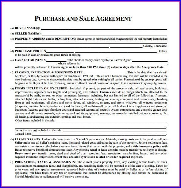 Nj Real Estate Sales Contract Template Templates-1  Resume Examples