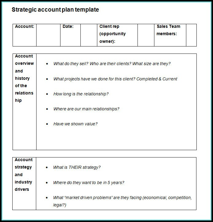Strategic Account Plan Template Templates-1  Resume Examples