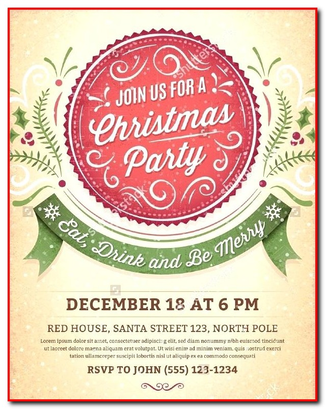 Christmas Party Invitation Template For Word Templates-1  Resume