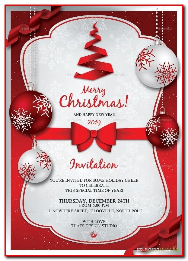 Ugly Sweater Christmas Party Invitation Template Templates-1