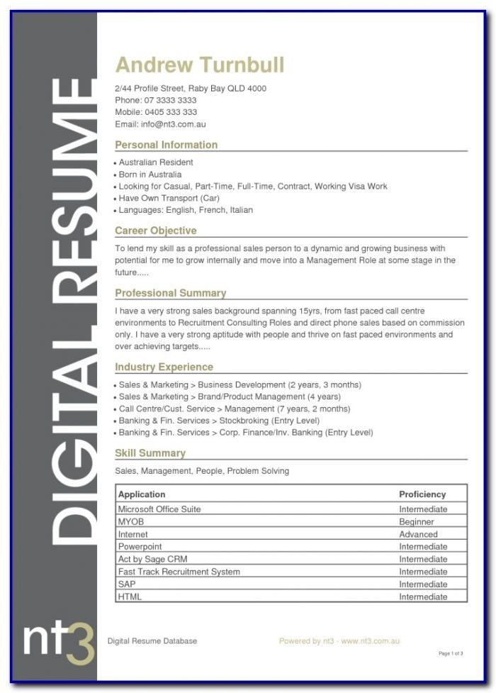 Resume Template Word Australia Free Templates-1  Resume Examples