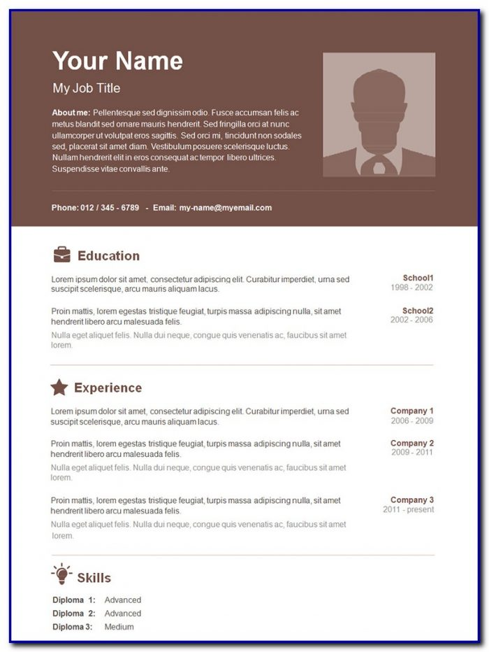 Resume Template Word Doc Free Templates-1  Resume Examples