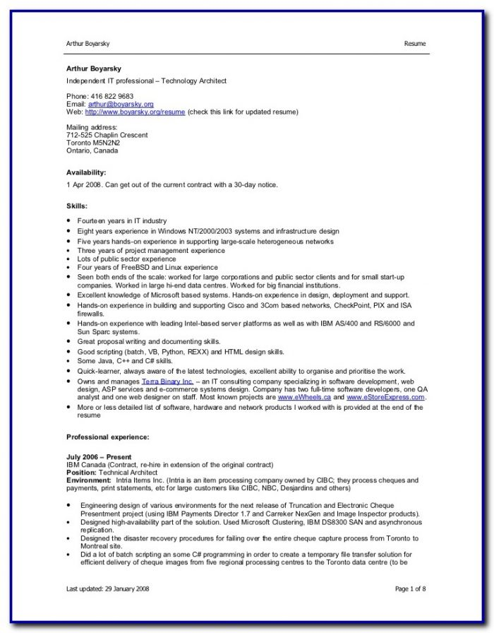 Professional Resume Templates Free Download For Microsoft Word