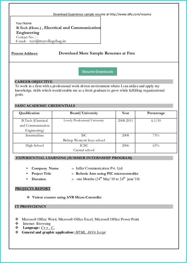 How To Download Resume Templates In Microsoft Word 2010 Templates-1