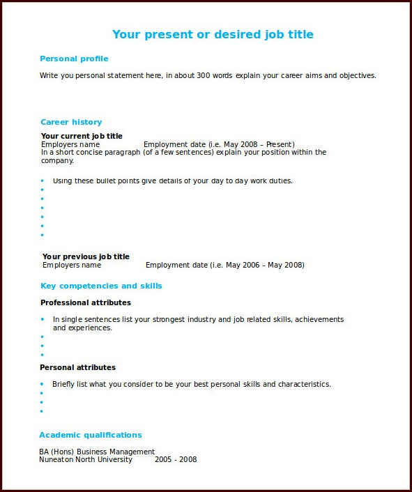 Best Free Resume Templates Word Templates-1  Resume Examples
