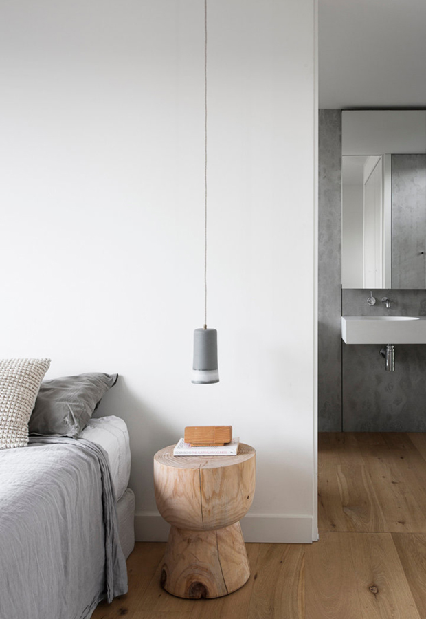 Home tour a minimalist family house in melbourne these for Minimalist bedroom tour