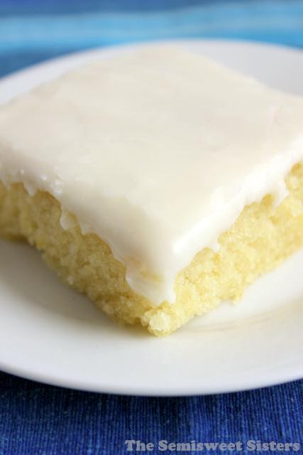 White Texas Sheet Cake Half Sheet Pan