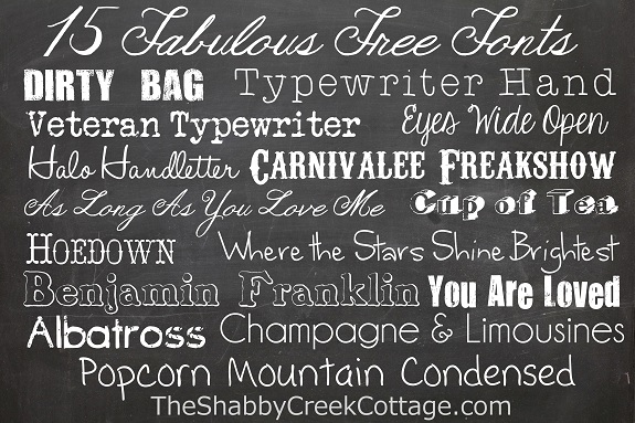 15 free fonts for almost any occasion - The Shabby Creek Cottage