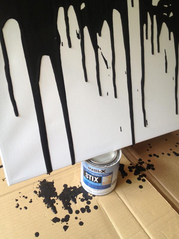 make this easy DIY paint drip wall art