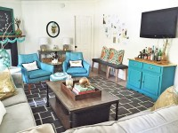 Bright, fun living room on a budget