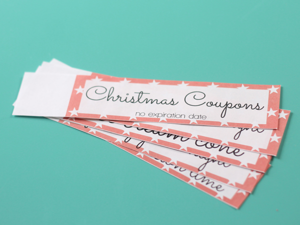 Free Printable Kids Christmas Coupon Books