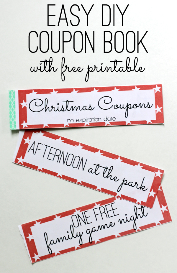 Free Printable Kids Christmas Coupon Books - printable coupon templates free