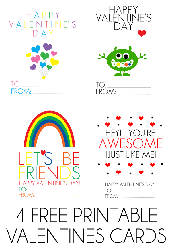 FREE printable Valentines Day Cards - free printable christmas card maker