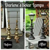 Repurpose Old Lamps - a few bright upcycle ideas