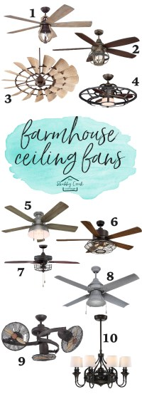 The Best Farmhouse Style Ceiling Fans (starting under $200)