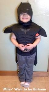 Miles as Batman