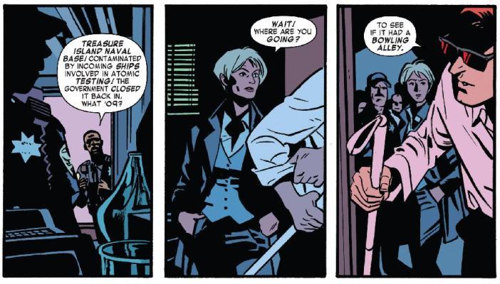 Daredevil Issue 1: Treasure Island reference