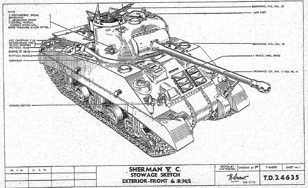 sherman firefly diagram