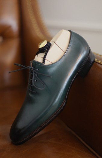 masaru okuyama green whole cut oxford