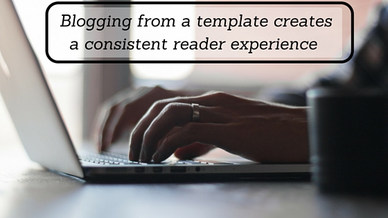 Blog template for writing