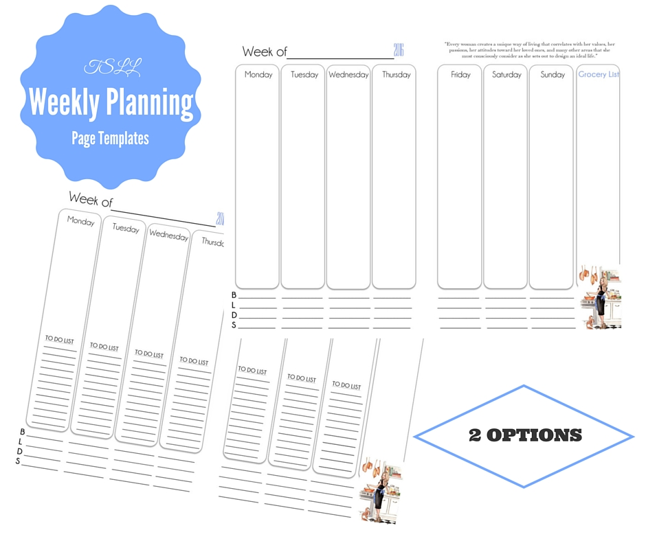 TSLL Weekly Planner Pages Now Available! \u2013 The Simply Luxurious Life®