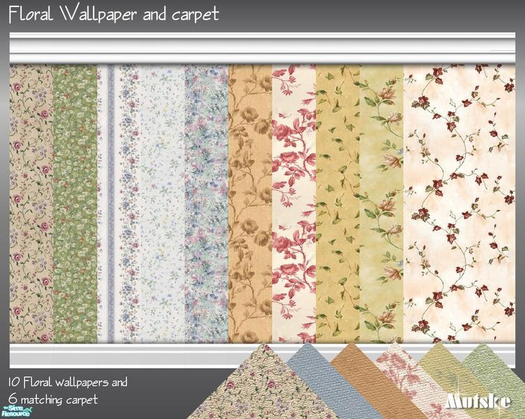 Mutske39s Floral Wallpaper And Carpet