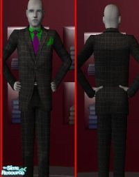 wyldsyde53's Green Dress Shirt and Purple Tie
