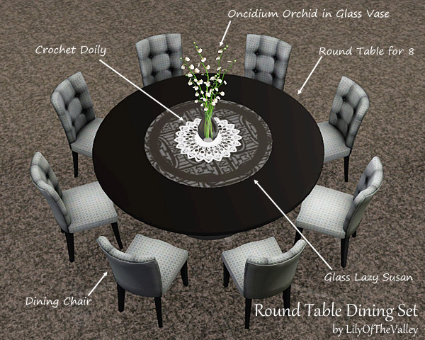 Lilyofthevalley s round table dining set