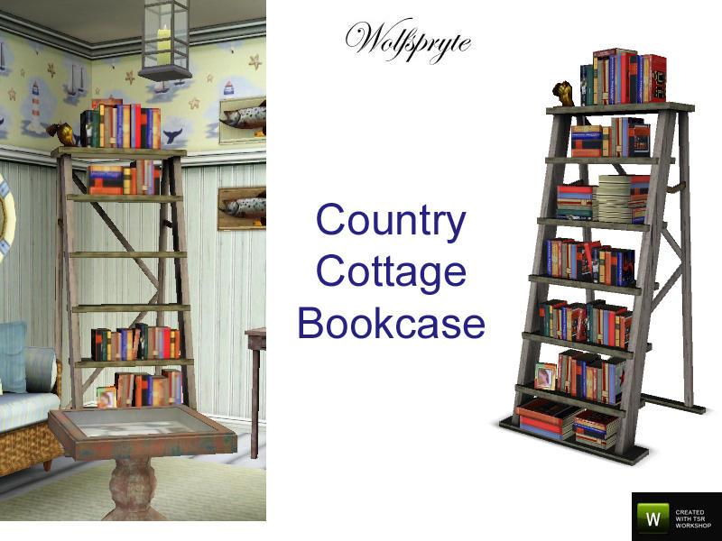Wolfspryte39s Country Cottage Antique Ladder Bookshelf
