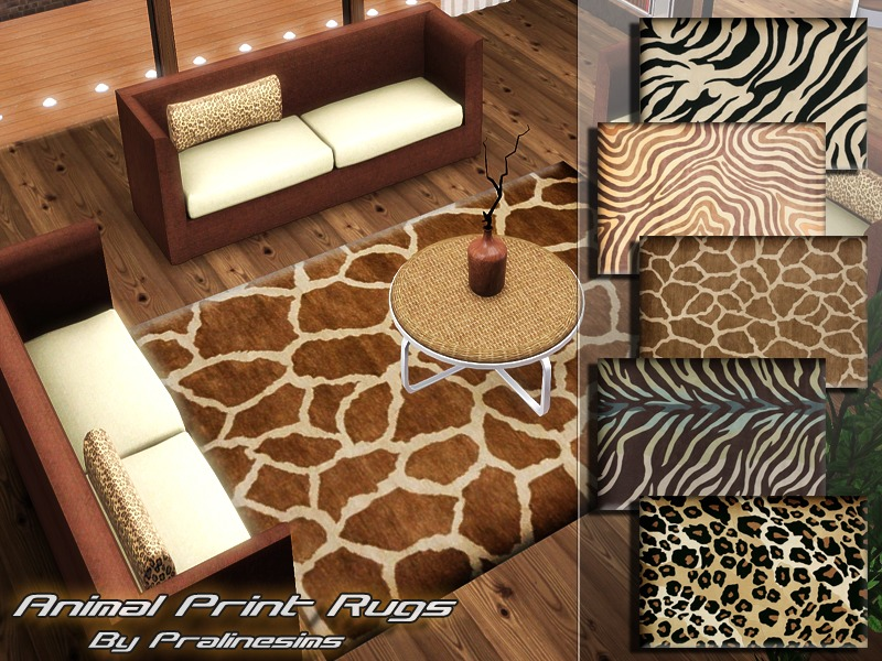 Pralinesims39 Animal Print Rugs