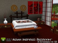 TheNumbersWoman's Asian Inspired Bedroom